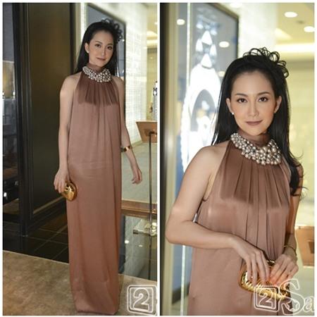 Sao Việt quyến rũ với váy suông 4