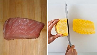 Chua ngọt dễ ăn món thịt heo xào dứa 2