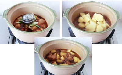 Thịt kho khoai tây đậm đà lạ miệng 5