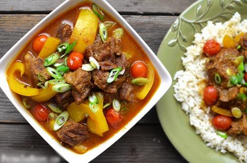 Thịt bò hầm nước cốt dừa 9