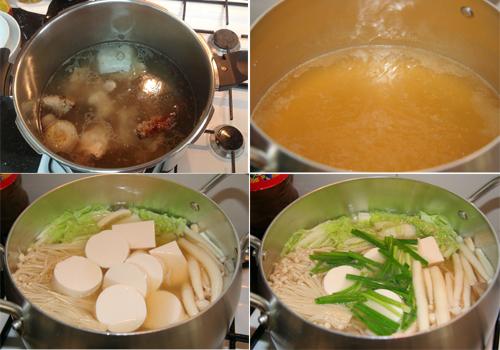 Thanh mát canh đậu phụ non nấu nấm 3