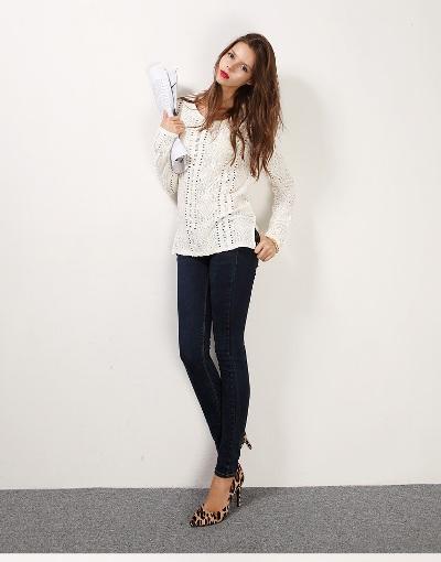 Điệu đà với mốt áo len nữ Hàn Quốc mùa thu 6