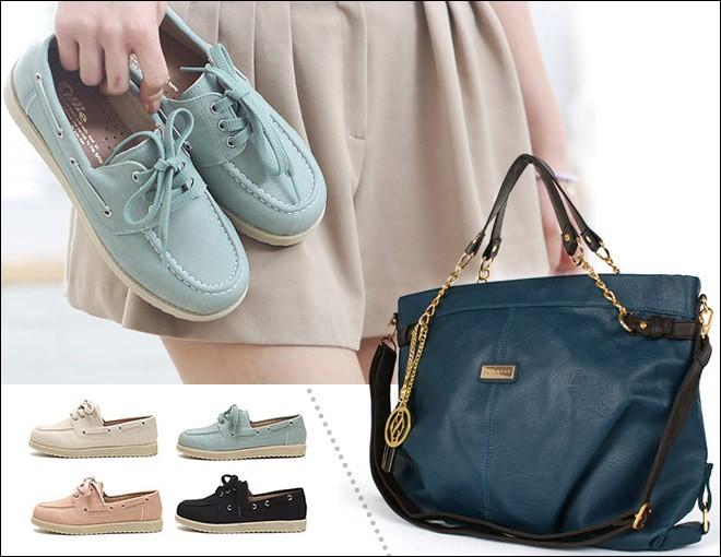 Cách phối đồ hoàn hảo giữa giày và túi 1