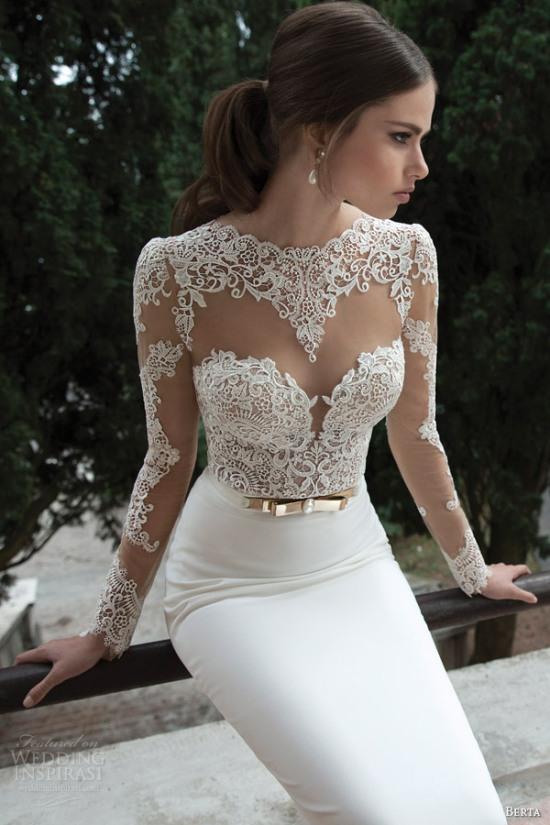 Những mẫu váy cưới dài tay đẹp đến khó tin 23